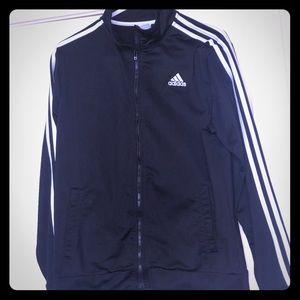 Adidas 3 stripe black zip size boys XL 18-20